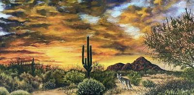 """""""Sunset Stroll,"""" oil by Kathy Snapp"""
