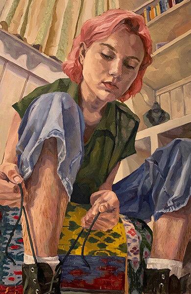 """Stubborn,"" a self-portrait by Scottsdale artist Dana Corbo"