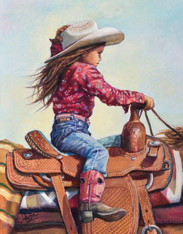 Laurie-J.-Lee-Cant-Reach-the-Pedals-oil-on-panel-14-x-11