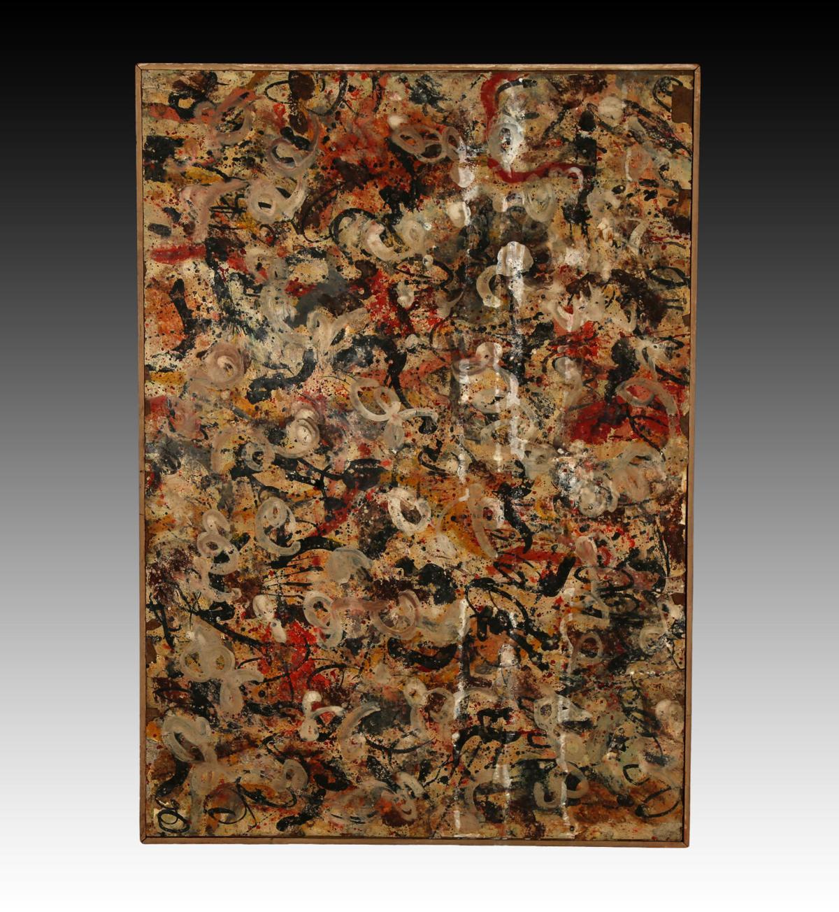 Jackson Pollock gouache painting