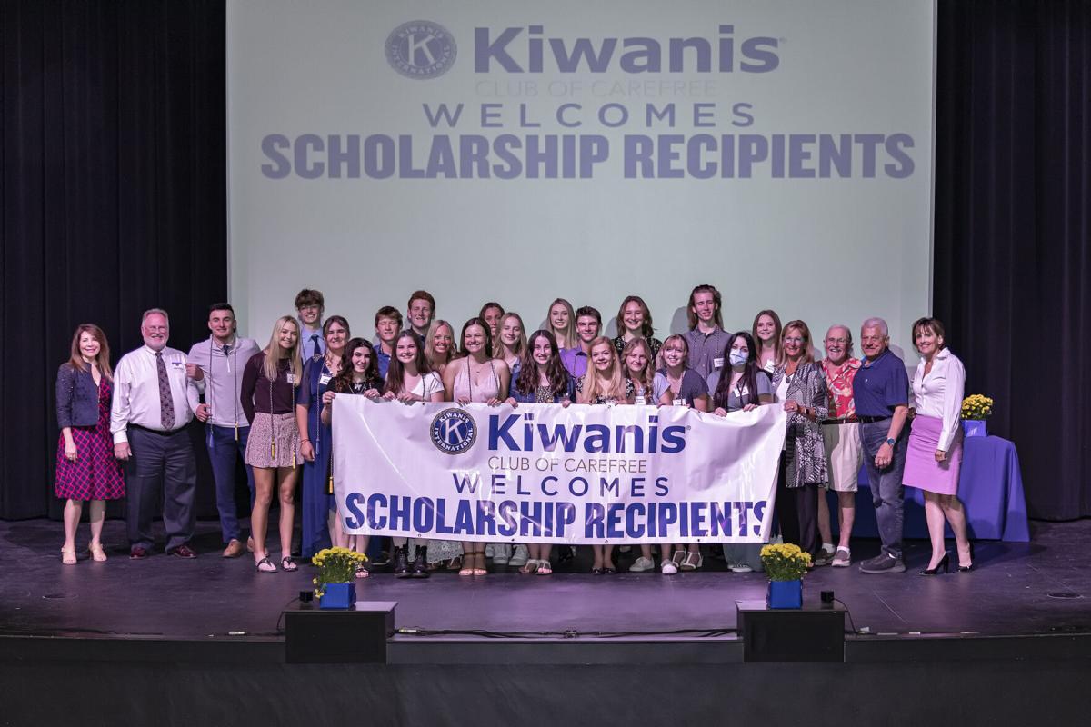 Kiwanis award recipients and committee members