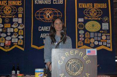 Kiwanis president Kimberly Jack at the May 5 meeting