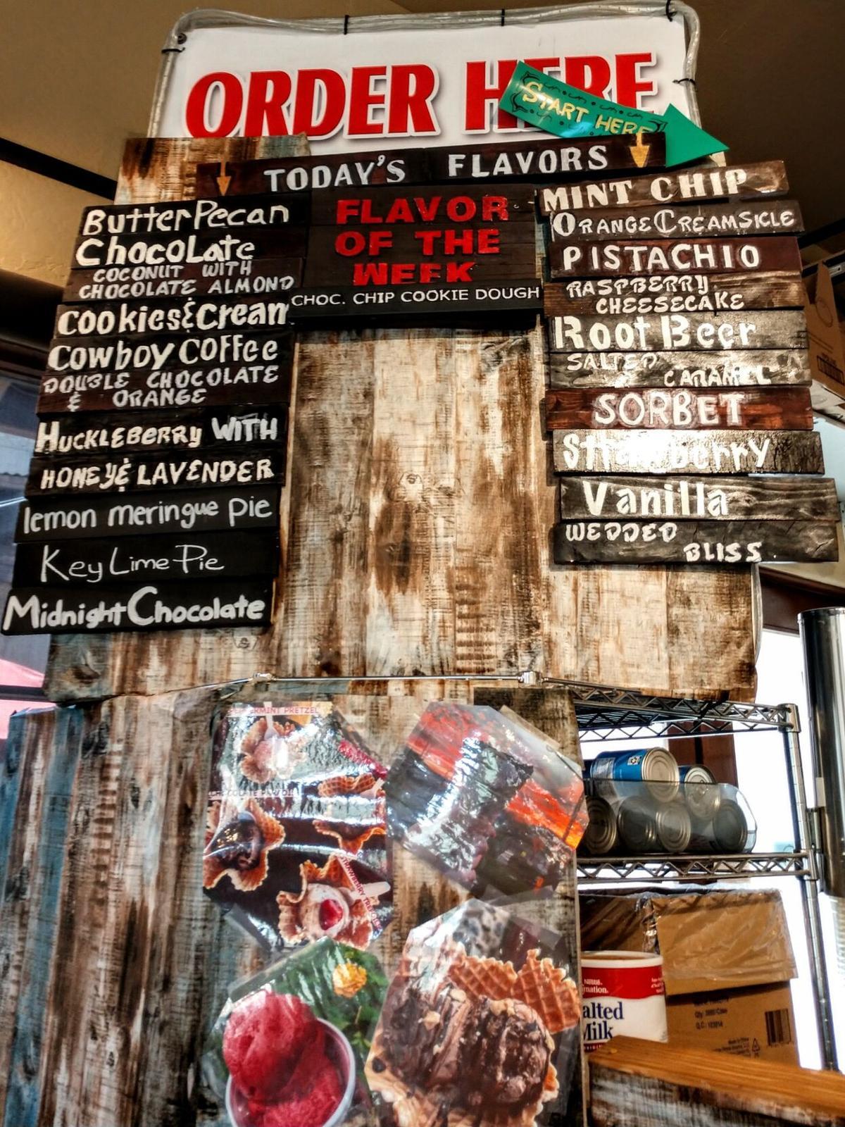 The City Creamery daily menu