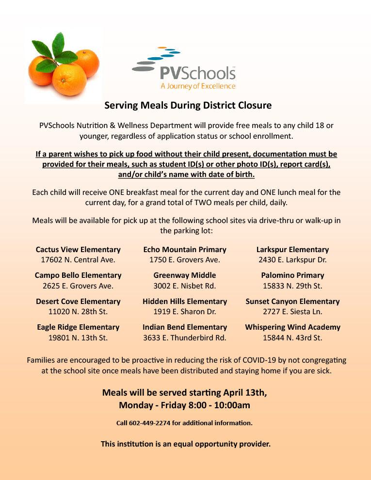 PVSchools Serving Meals During District Closure