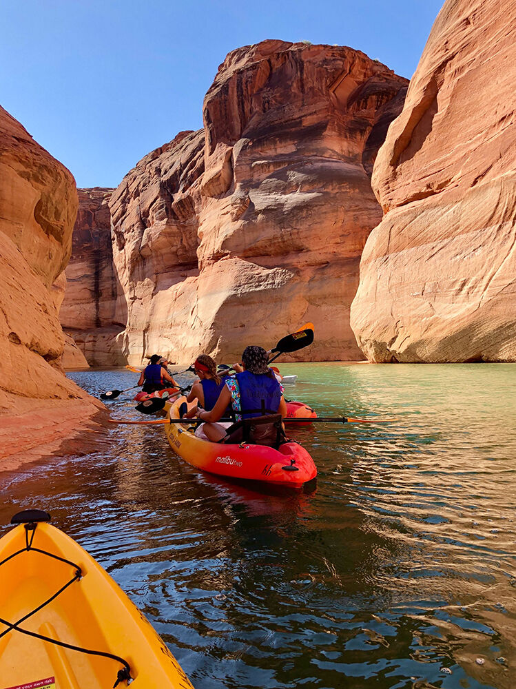 Lake Powell Slot Canyon Kayaking