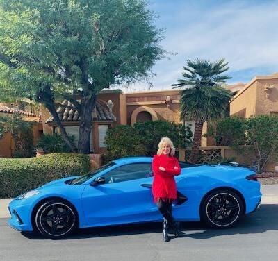 Cathy with 2020 Chevrolet Corvette Stingray Convertible