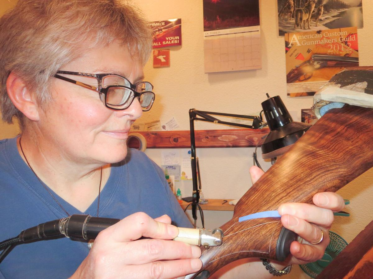 Kathy Forster at work photo