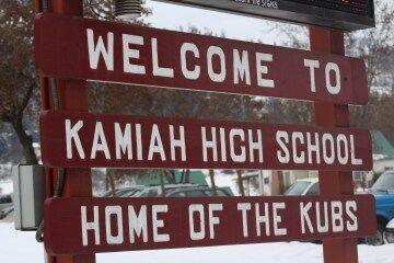 Kamiah High School sign photo