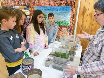 Students learn about soil erosion photo