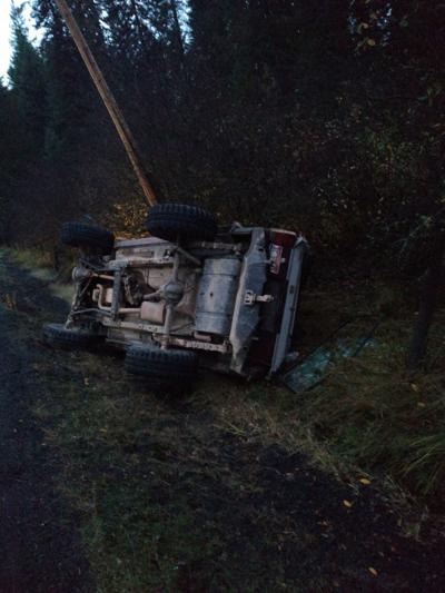 Rollover accident on Pleasant Acres Drive photo