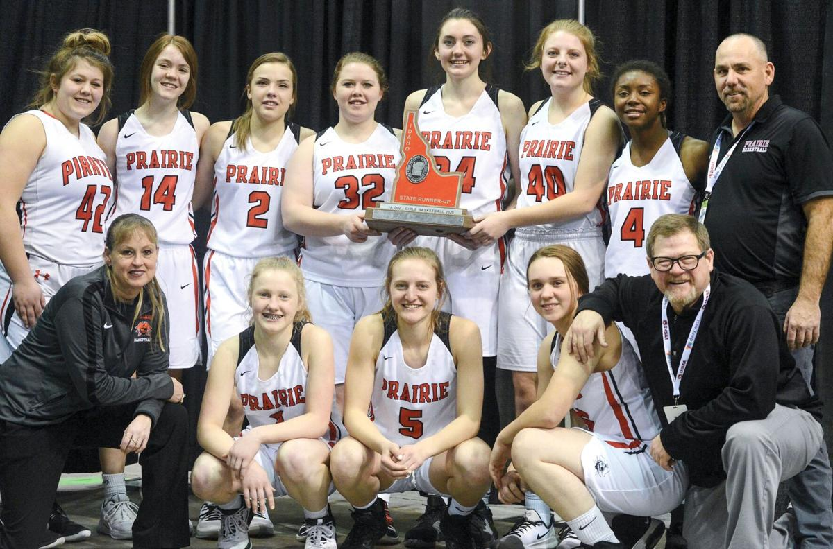 Prairie girls' basketball team 2020 photo