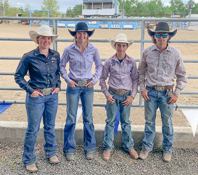 Four qualified high school rodeo finalists photo