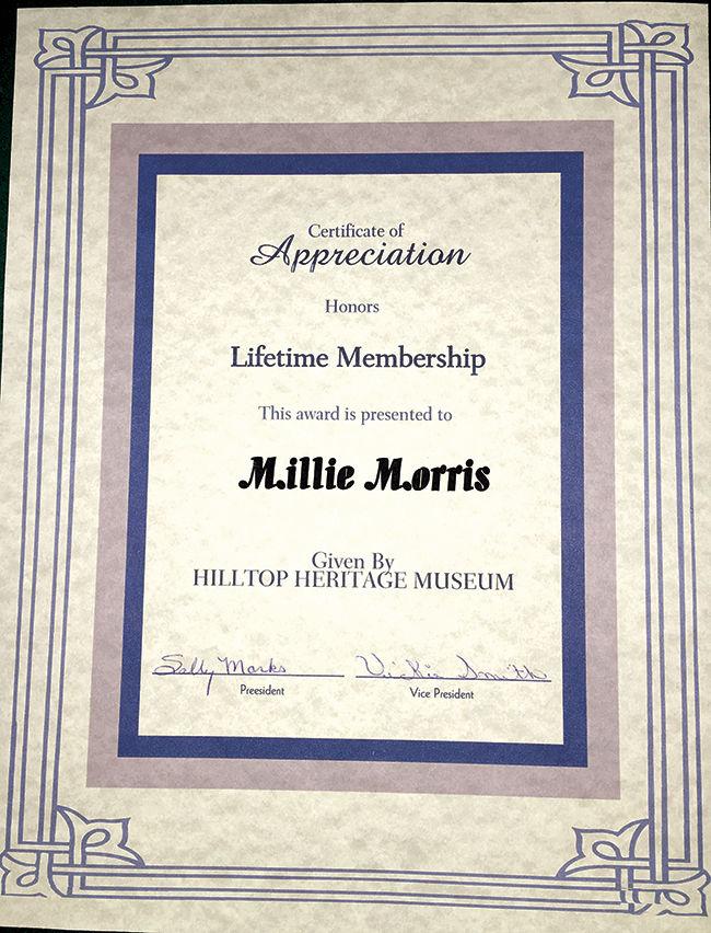 Cert Millie Morris -Manager Elk Horn Bar