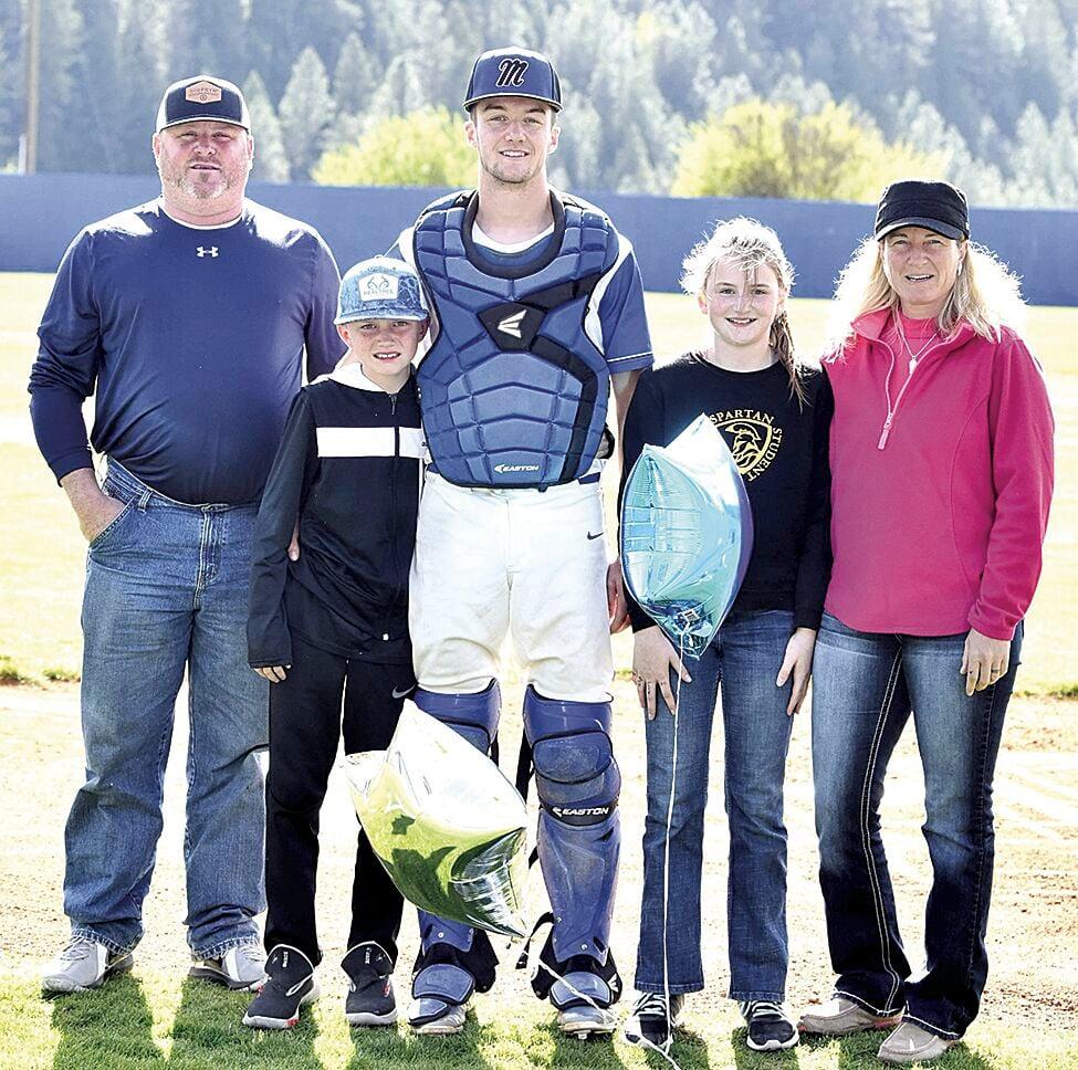 (Sports) OHS BB Senior Night--Larson family