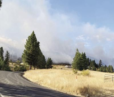 Five large wildfires