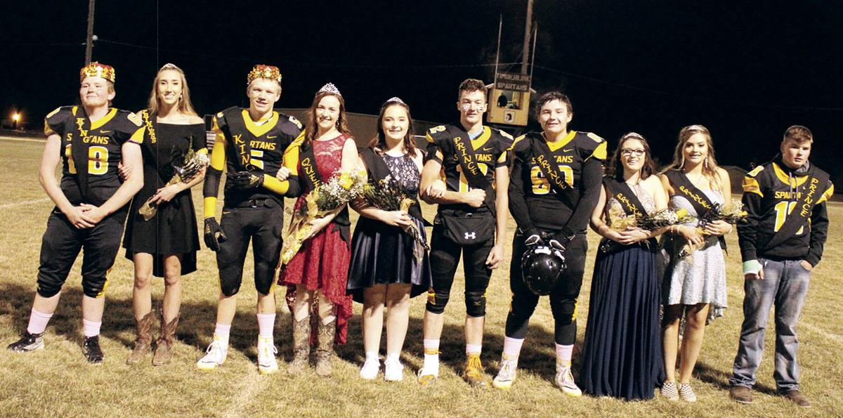 THS FB homecoming royalty court