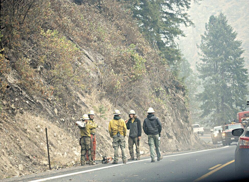 Firemen on Hwy 12 Sept 15