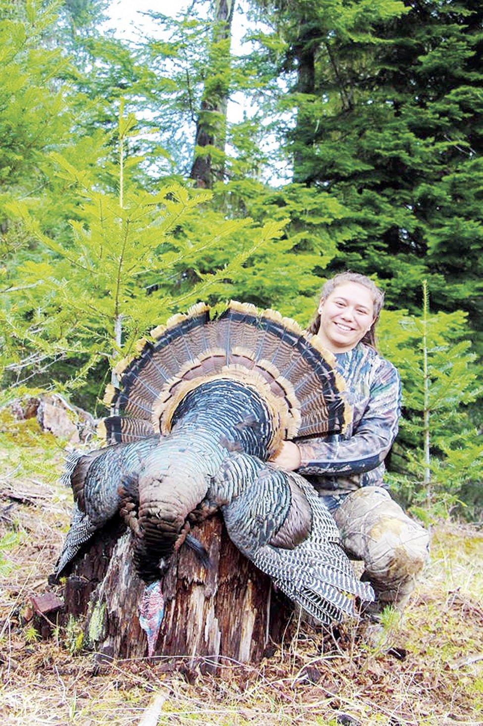 Pierce News girl with turkey