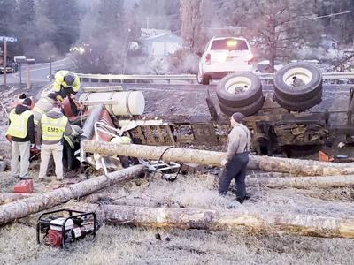 Grangemont Road logging truck wreck