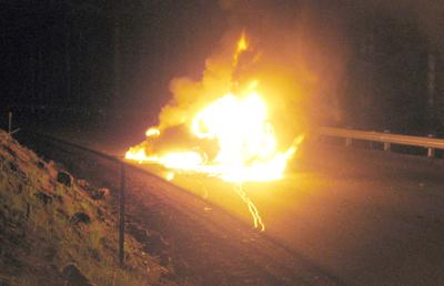 Grangemont Road vehicle fire