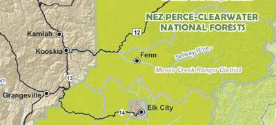 Moose Creek Road map