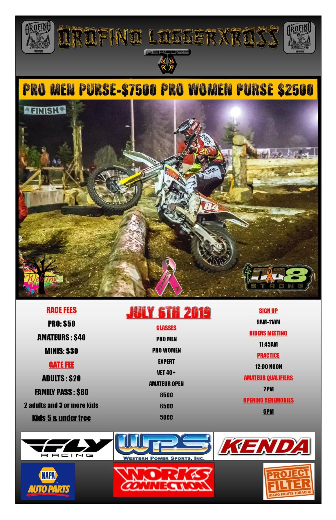 2019 LoggerXross Schedule