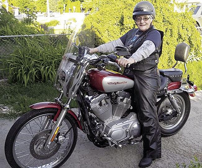 Savvy Senior -- Weeyaa on her Harley