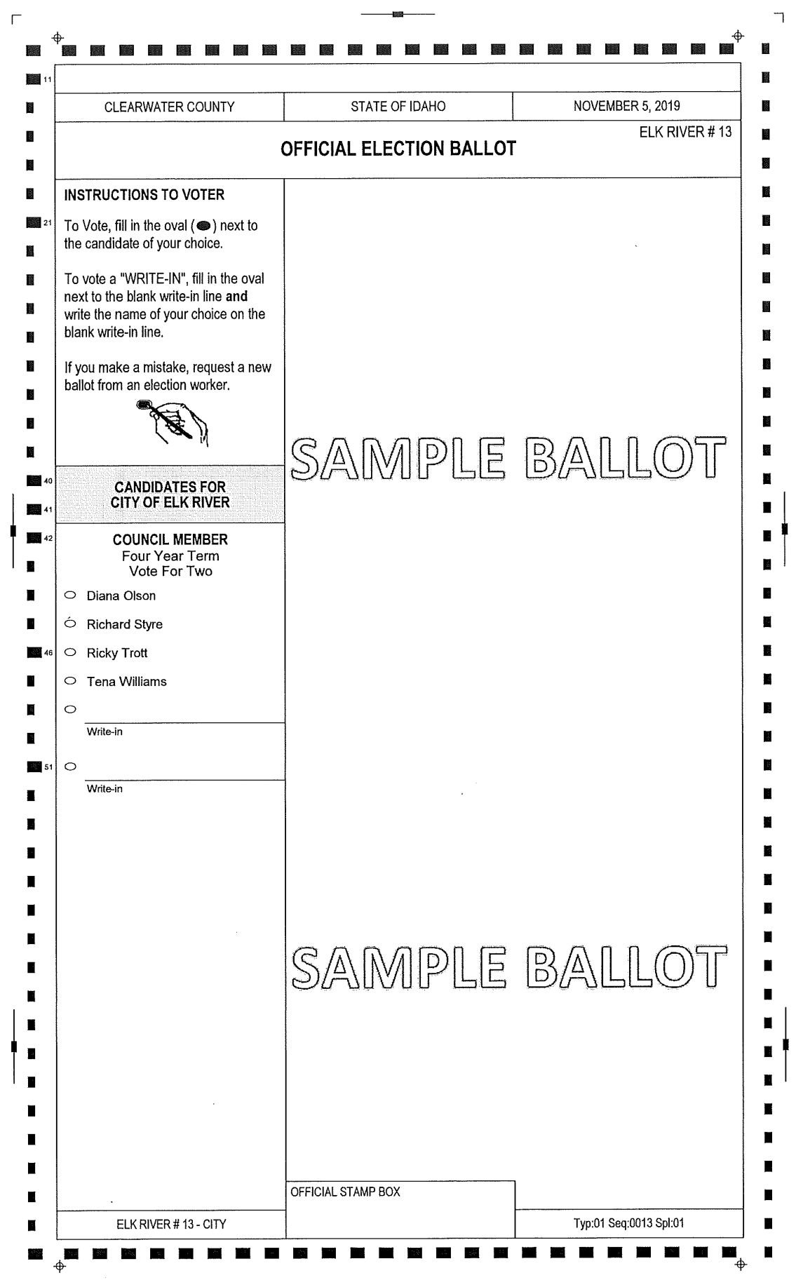 Sample Ballot Clearwater County Nov 2019-1