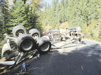 Logging truck accident