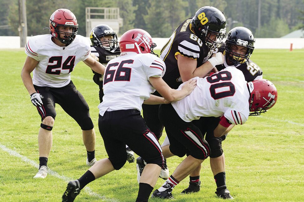 THS FB--#60 Jaron Christopherson and #22 Ryland West