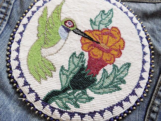 Savvy Senior--Weeyaa Beadwork--hummingbird