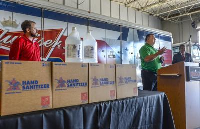 PHOTO: Hand sanitizer donation