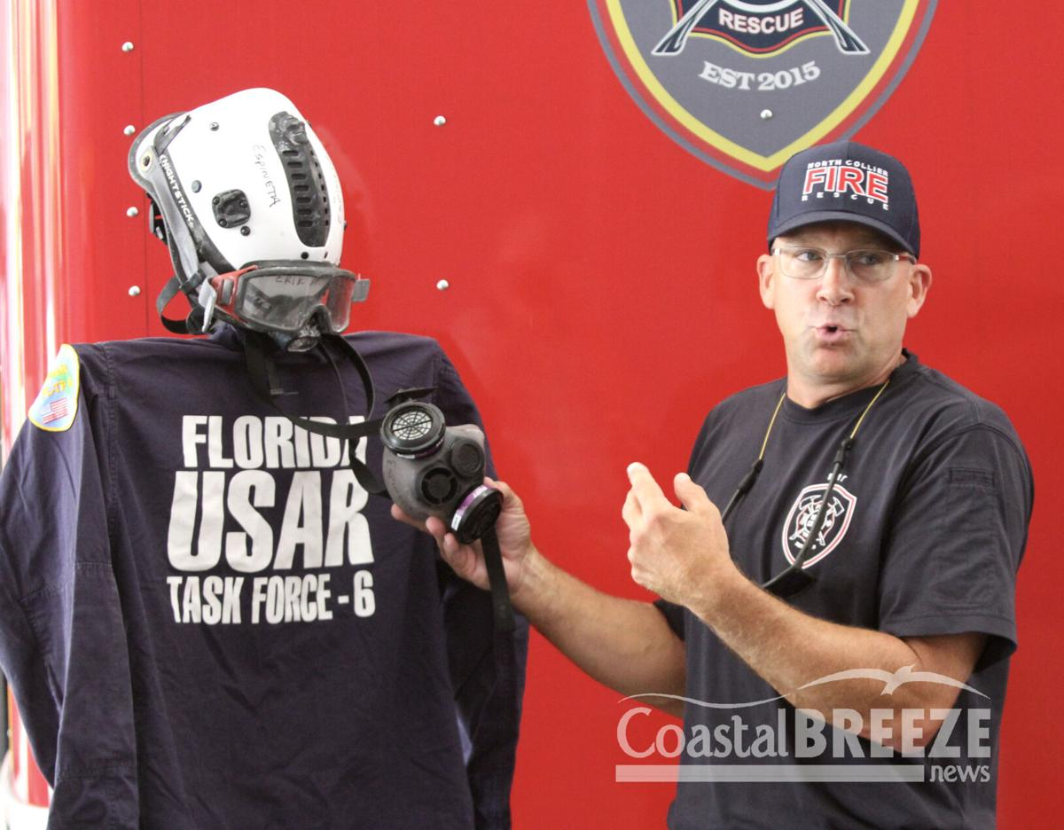 1. Dennis Kerr shows some of the equipment used at the Surfside condo collapse..JPG