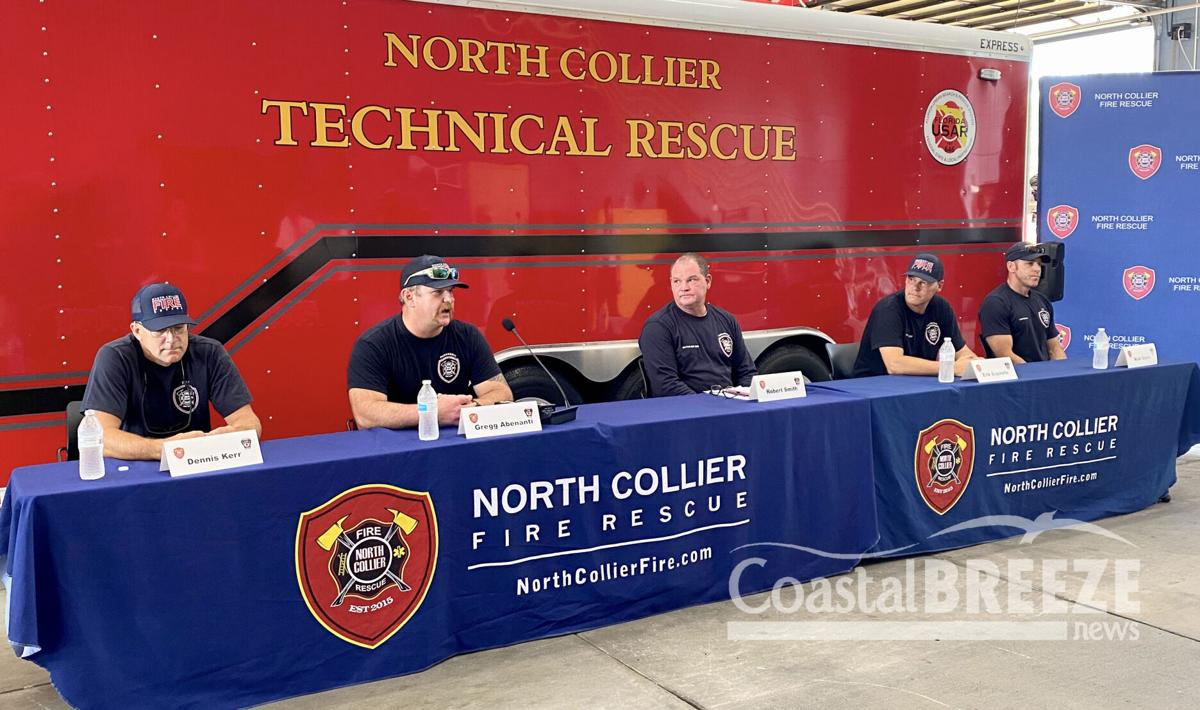 2. The five member of the North Collier Fire Rescue team who served at the Surfside condo collapse..JPG