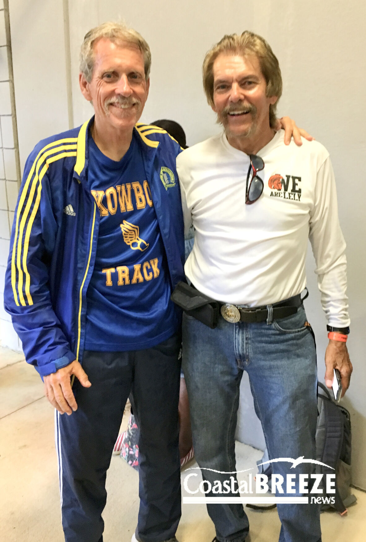 3. Roger Raymond with Mark McGarity.  Raymond, a longtime basketball coach, learned the fine points of coaching track from McGarity..JPG