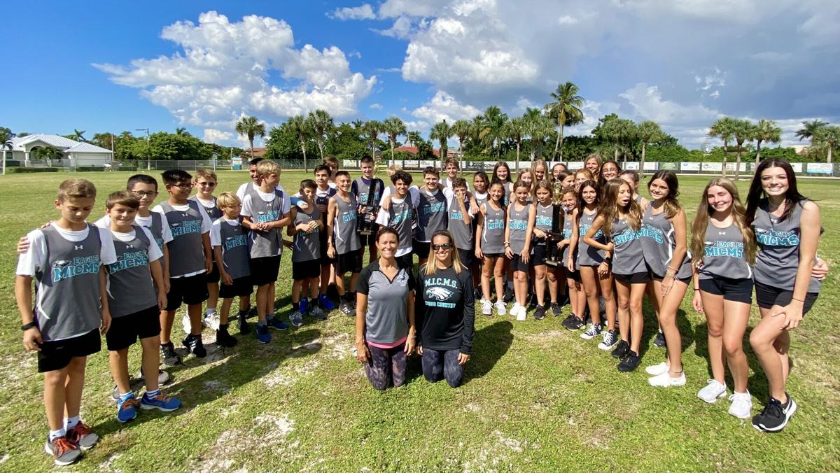 Middle School 1. Both the boys and girls cross country teams at Marco Island Charter Middle School finished in 1st Place at the Bishop Verot Viking Invitational. .jpeg