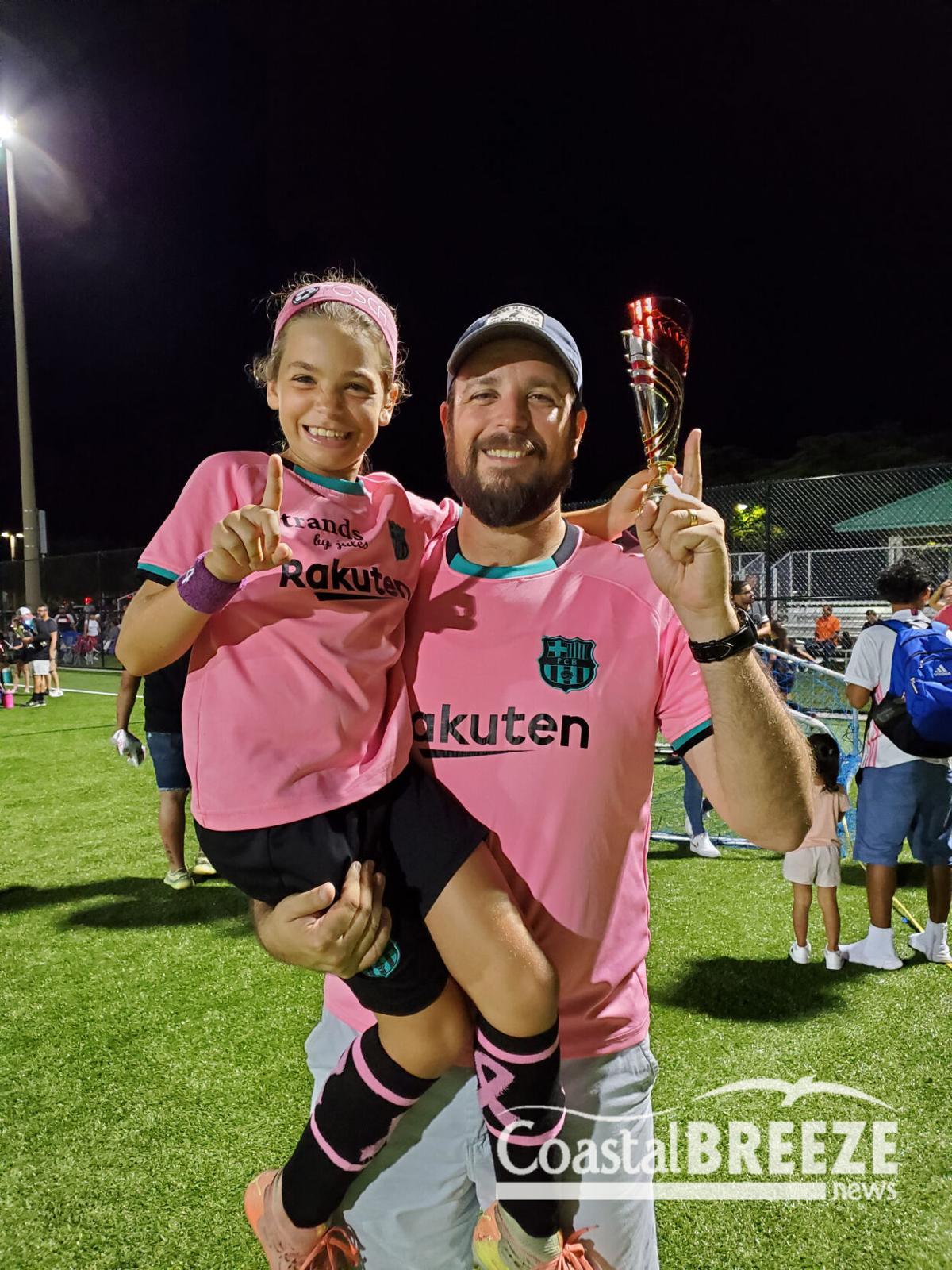 3. U11 player, Tosca Grifoni with Coach Dad.JPG