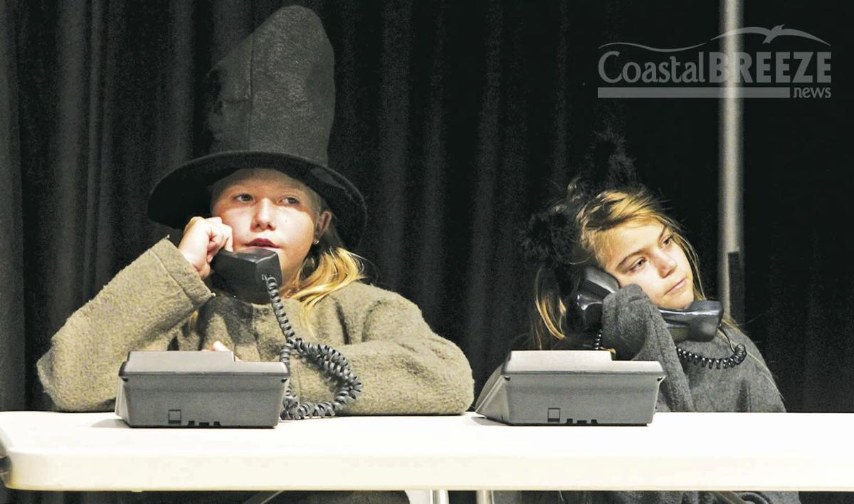 Young Actors Sparkle 6. Two of the young actors play bored telephone operators at Tinkerbell's Millionaire Matchmaker Club. .jpg