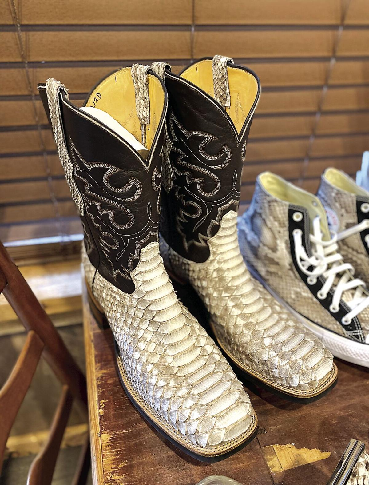 """""""Wildman"""" 2. Python boots and sneakers.tif"""