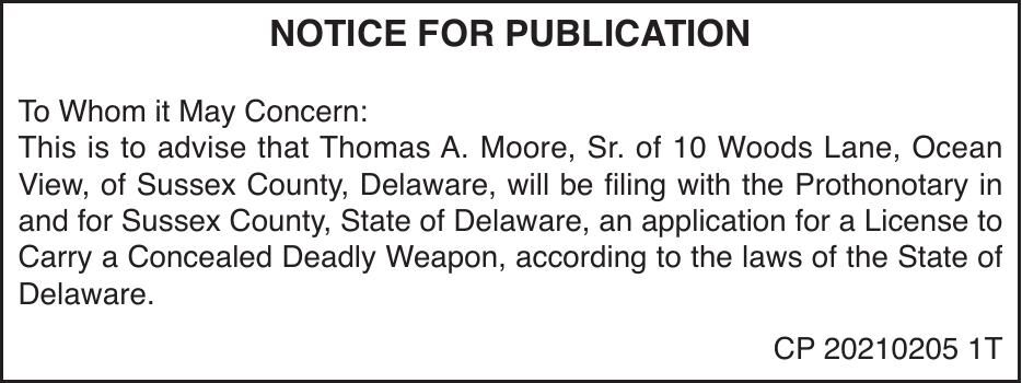 Concealed Carry - Moore, Sr.