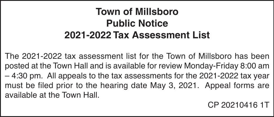 Town of Millsboro - '21 Assessment Notice