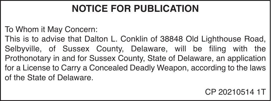 Concealed Carry - Conklin