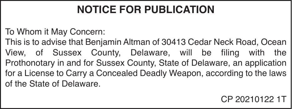 Concealed Carry - Altman