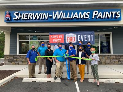 Sherwin-Williams Ocean View ribboncutting