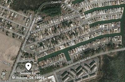Millsboro robbery attempt map