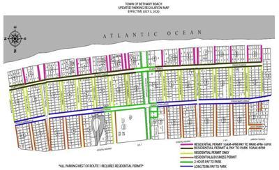 Bethany Beach parking map, July 3, 2020