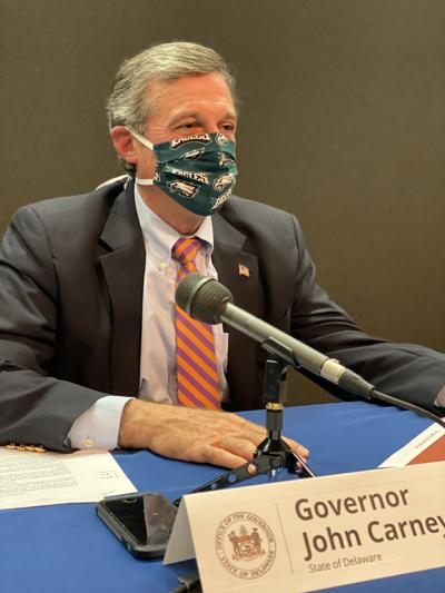 Gov. John Carney with face mask