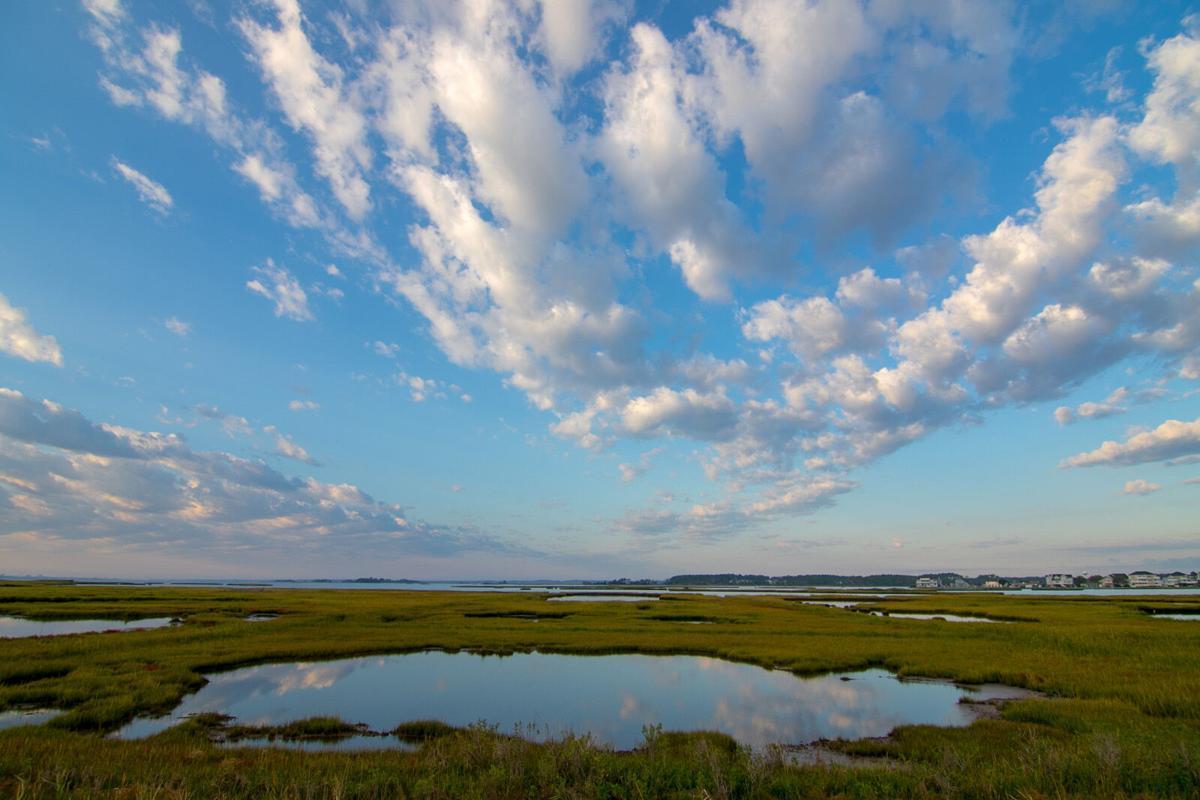 Sunrise over Fenwick Island and the marsh