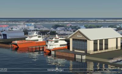Skipjack 1 maintenance facility rendering, West Ocean City