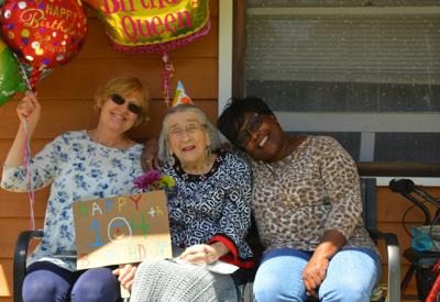 Neighbors create special 104th birthday for South Bethany woman